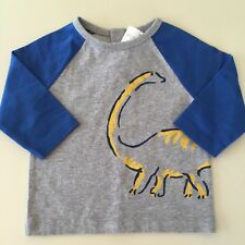"""Mini Boden AWESOME Baby Boys """"DINO"""" Long Sleeve Shirt. 3-6 Months NEW!! UNIQUE"""
