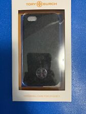 Tory Burch Hardshell Case for iPhone 5 Black with Silver Logo NWT