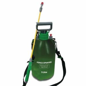 5l Pressure Fence Sprayer Timber Wood Treatment Garden Shed Decking Patio Spray