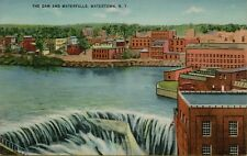 VTG The Dam and Waterfalls in Watertown New York NY Postcard