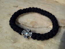 IC XC NIKA Orthodox greek chotki komboskini prayer rope rosary black wool 33knot