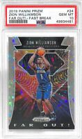 ZION WILLIAMSON 2019 PANINI PRIZM FAR OUT FAST BREAK #24 PSA 10 GEM MINT RARE