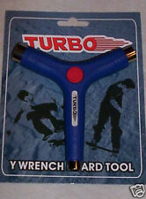 TURBO Y-Wrench Skateboard Tool Blue Brand New