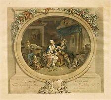 '' La Gaïté conjugale ''  - gravure du XIXème siècle.