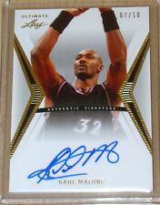2012 Leaf Ultimate Series Basketball autograph Karl Malone 7/10