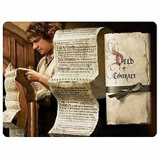 The Hobbit Bilbo Baggins Deed of Contract Collectible Authentic Prop Replica