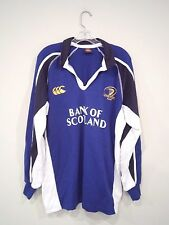 Canterbury of New Zealand Men's Rugby Shirt Size Large Blue Big Logo Athletic