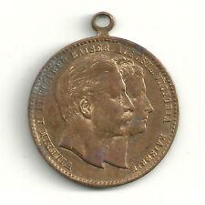 Medaille Anhänger Wilhelm II deutscher Kaiser Augusta Victoria Kaiserin