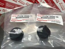 Pair 2000-06 Toyota Tundra Rear Bumper Dome Bolt Covers Genuine PT228-34000-BK