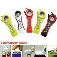 Multifunction SIX In One Bottle Opener Can Jar Kitchen Manual Tool Gadget NEW