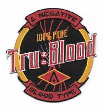 "True Blood Tv Series Tru Blood Bottle Logo 4"" Embroidered Patch"