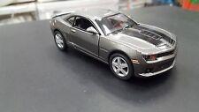 2014 CHEVROLET CAMARO SCURO ARGENTO KINSMART auto giocattolo modello 1/38