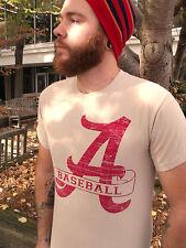 ALABAMA BASEBALL Beige 100% Cotton Size S T-Shirt