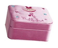 Girls Pink Satin Ballet Jewellery Box Christmas Birthday Gift By Katz JB-7580