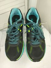 Skechers Lightweight Women's Size 8, Black/Turquoise/Lime Lace Up Sneaker Shoes