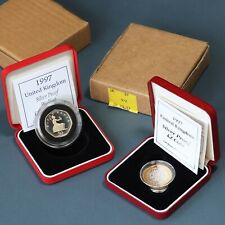 Elizabeth II. Silver Proof £2 And Piedfort 50p, 1997. With COA's And Boxes.
