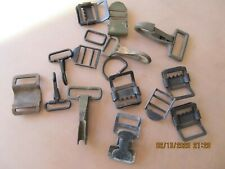 16 Pc Lot - Buckles Clips Rings Loops Misc Back Packs Straps Bags Pouches