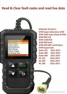 Fault code scanner diagnostic OBD2 tool for KTM DUKE - 690 990 1190 1290 125-390