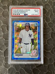2020 Bowman Chrome Sapphire #BCP-8 Jasson Dominguez PSA 9 Yankees
