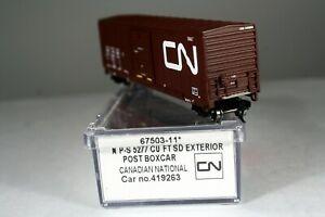 Intermountain N Scale 67503-11 Canadian National Exterior Post Box Car 419263