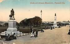 uk13121 drake and armada monuments  plymouth hoe uk