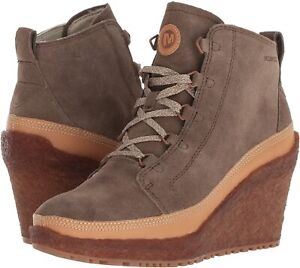 Merrell Women's Tremblant Wedge Lace Up Wedge Boot, Stone, Size Women 11M NEW
