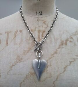 Danon signature heart classic necklace silver chain