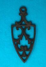"Antique Vintage Cast Iron Sad Iron Trivet Stand 8.5"" Spade Type w/Family History"