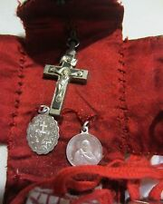 VINTAGE RELIGIOUS MEDALS - SAINTS- RELIC - CRUSIFIXES AND MORE