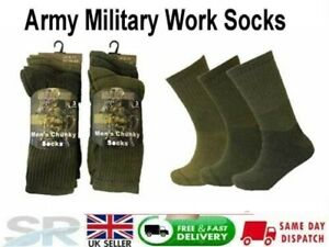 Mens Army Military Boot Work Socks High Performance Warm Sock 3,6,12 pairs