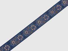 "0.90"" (2.28 Cm) wide By The Yard Jacquard Trim Woven Braid Sew Ribbon T861"