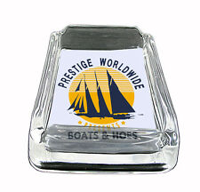 "Boats and Hoes Step Bros 01R Glass Square Ashtray 4"" x 3"" Smoking Cigarette"