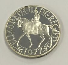 1977 Queen Elizabeth Jubilee Crown -Sterling Silver Proof Coin (with toning)