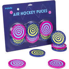 Six-Pack Vivid Air Hockey Pucks | Crazy Designed Pucks With Psychadelic Patterns