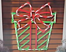 Christmas Red and Green Present Lighted Window Decoration – 1 Piece
