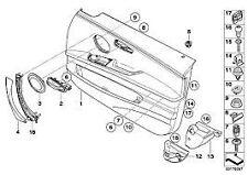 Door Pull Handle Kit Carrier Left Interior Genuine BMW 3 Series