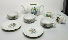 Vintage Walt Disney's Alice In Wonderland Porcelain Child's Toy Tea Set