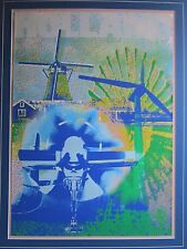 HENK VAN DER VET SILKSCREEN SERIGRAPH LARGE ABSTRACT MODERNISM EXPRESSIONISM VTG