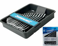 Silverline 18pc Metric Combination Ring Open Ended Spanner Wrench Set 6 - 24mm