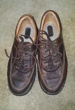 Born Mens Brown Leather 5 Eye Casual Driving Oxfords Shoes  size 10/42 b6251