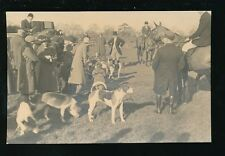 Staffordshire Staffs Fox Hunting OXLEY Horse Dogs 1935 RP PPC