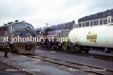 MCRR  672, CPR 7096,  St.J&LCRR 70 tonner St. Johnsbury Vt. April 1966