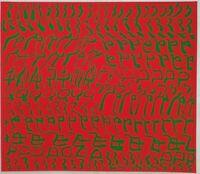 """CARLA ACCARDI """"Rosso e Verde"""" Moderna Concettuale Informale colori serigrafia"""