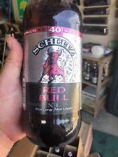 Schlitz Red Bull 40 Oz Beer Bottle Malt Liquor W Cap Empty