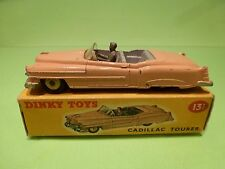 DINKY TOYS 131 CADILLAC ELDORADO TOURER CONVERTIBLE  - SALMON  - VG IN BOX