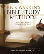 Rick Warren's Bible Study Methods a Christian paperback book FREE SHIPPING