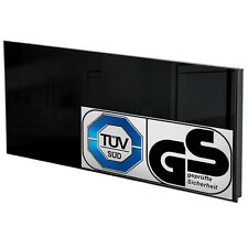 Chauffage infrarouge en verre electrique 510 watt radiant radiateur IP44 noir