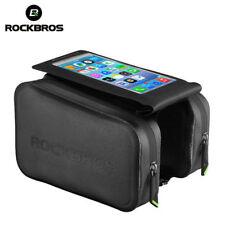 "RockBros Waterproof Frame Tube Bag 6.0"" Touch Screen Phone Bicycle Bag Black"