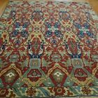 ANTIQUE DRAGON ROMANIAN BUCHAREST HAND KNOTTED WOOL LARGE ORIENTAL RUG 8.8x12.5