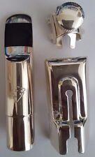 Winston & Issac Alto saxophone sax metal mouthpiece size A-7 Silver Finish New!